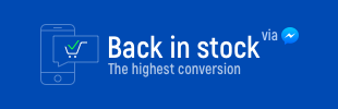 Back in stock via Messenger by ASoft