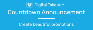 Digital Takeout: Countdown Announcement Bar
