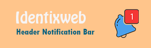 Header Notification Bar by Identixweb