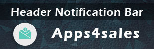 Header Notification Bar by Apps4sales