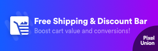 Free Shipping & Discount Bar by Pixel Union