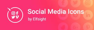 Social Media Icons by Elfsight