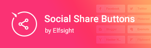 Social Share Buttons by Elfsight