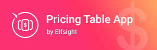 Pricing Table App by Elfsight