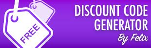 Discount Code Generator by Felix