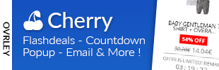 Flash deals, Countdown, Popup, Email - Cherry by Ovrley