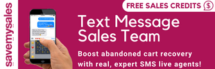 SaveMySales - SMS abandoned cart recovery with real conversations