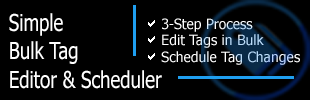 Simple Bulk Tag Editor & Scheduler