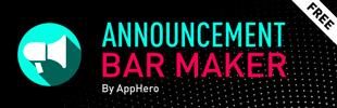 Announcement Bar Maker By AppHero