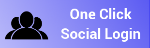 One Click Social Login app banner