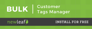 Bulk Customer Tags Manager