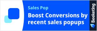 Sales Pop by Beeketing app banner