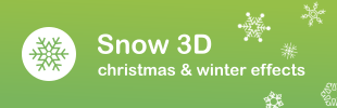Snow 3D - Christmas & Winter Effects