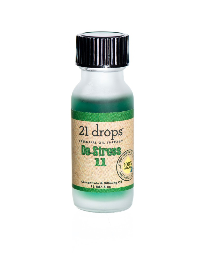 21 drops de-sress #11 essential oil aromatherapy concentrate and diffusing oil