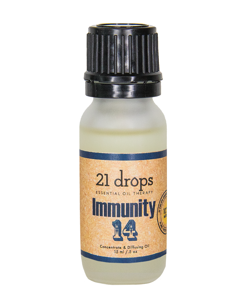 21 drops immunity #14 essential oil aromatherapy concentrate and diffusing oil