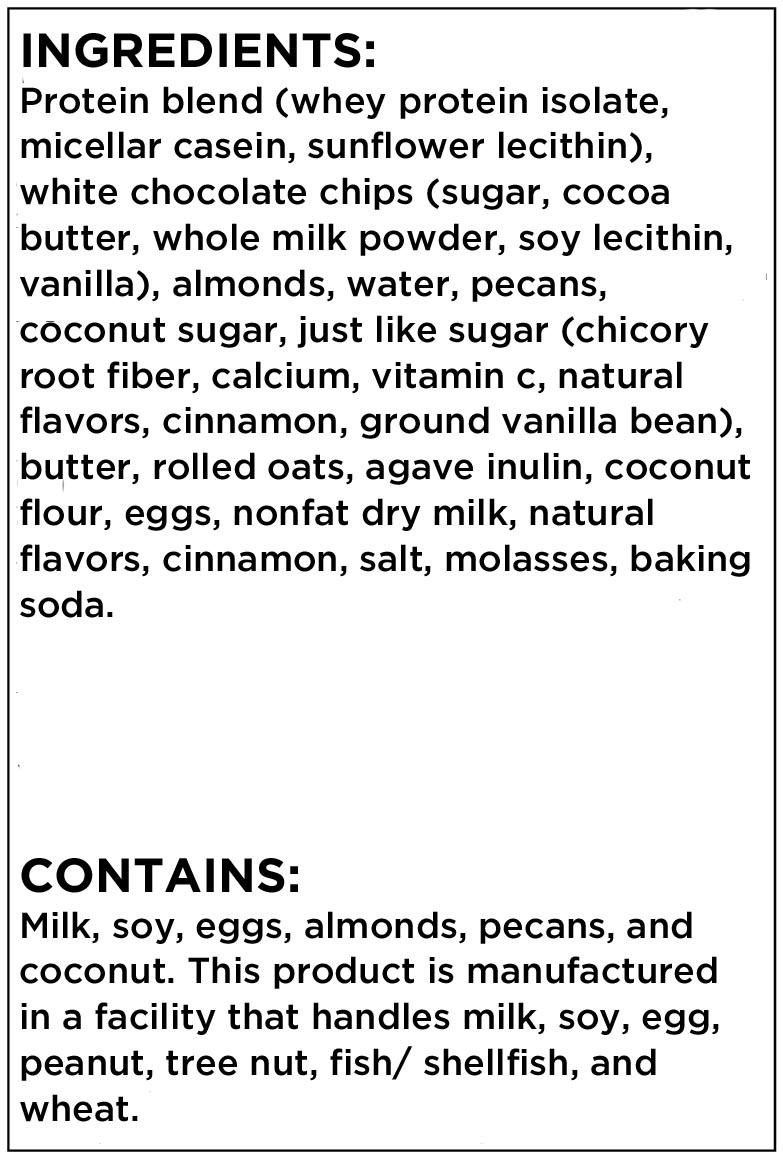 Best Bar Ever Meadows Cinnamon Bun Ingredient List