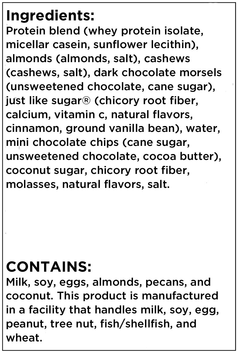Best Bar Ever Meadows Cookie Dough Ingredient List