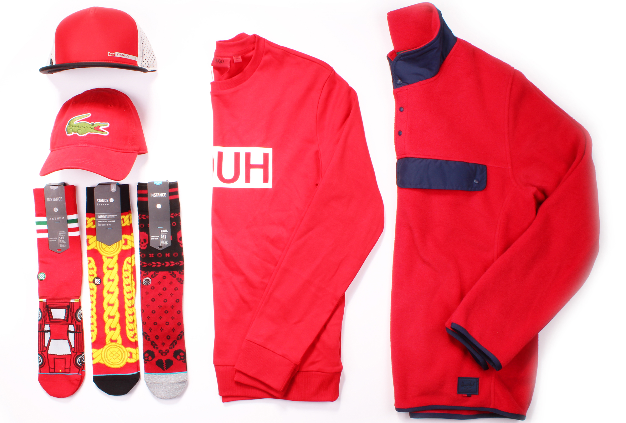 Red Hot Items from HUGO, Herschel Supply, Lacoste, Stance, and Melin available now at Boys'Co