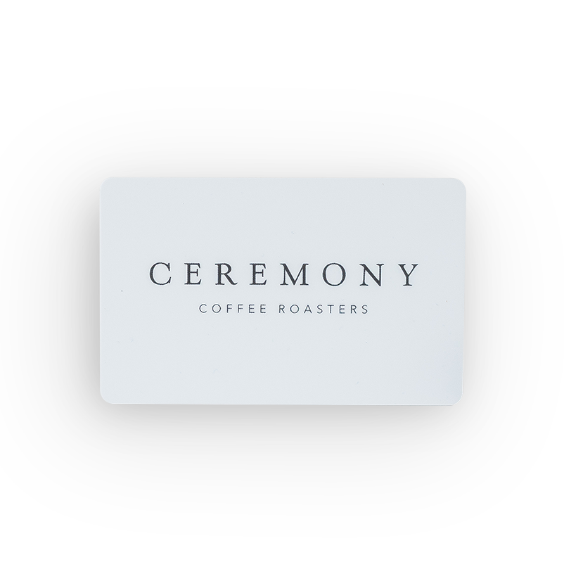 gift card online only ceremony coffee roasters