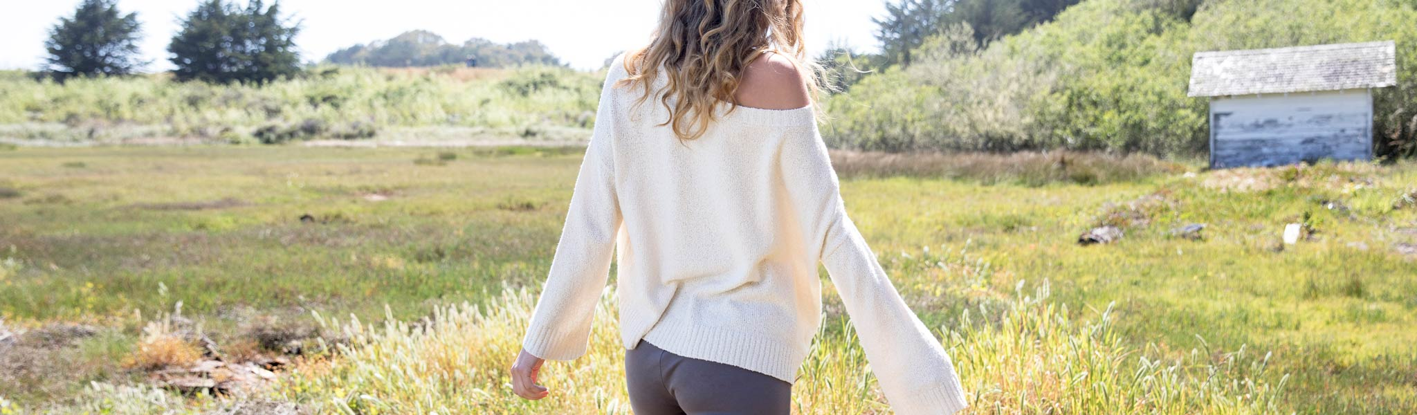 Womens organic cotton and alpaca sweaters by Indigenous