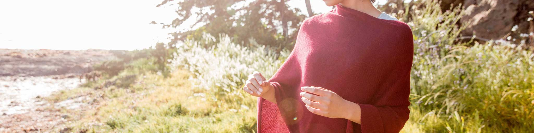 Womens Poncho, made from organic cotton colored with safe low-impact dyes