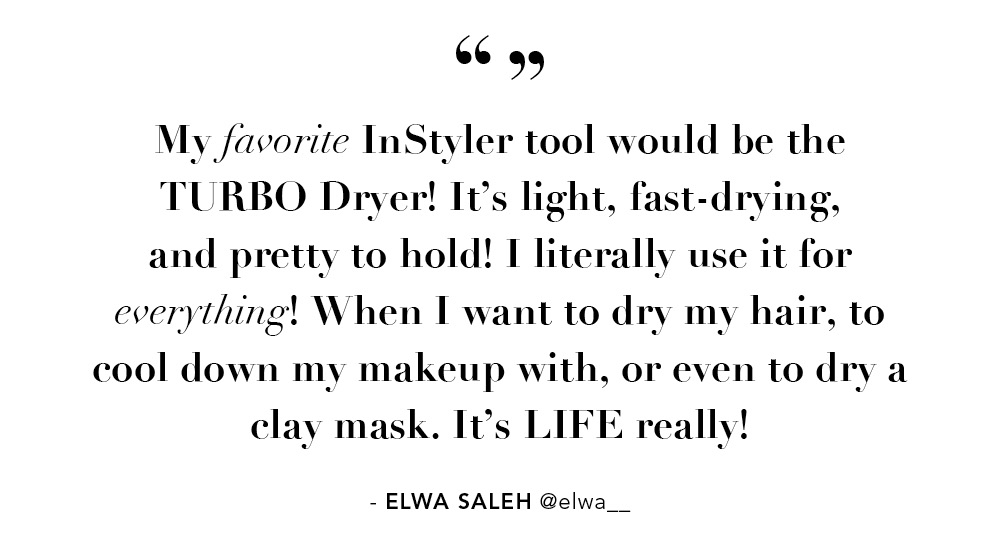 My favorite InStyler tool would be the TURBO Dryer! It's light, fast-drying, and pretty to hold!