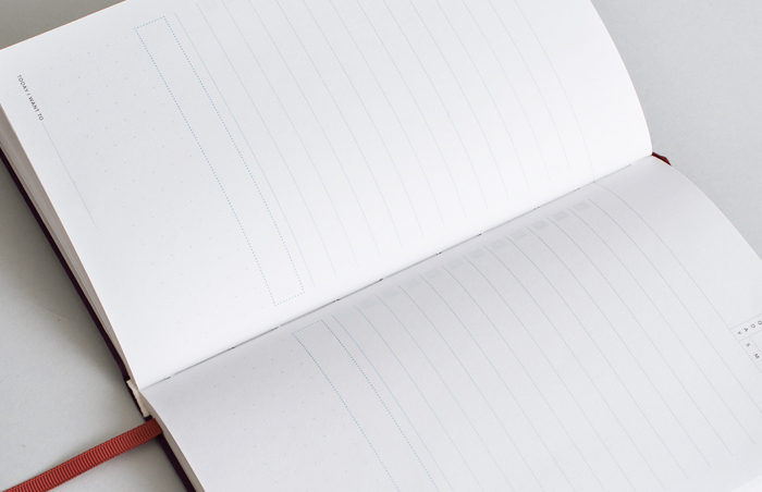 Lay-flat binding for Today Planner by Letterfolk