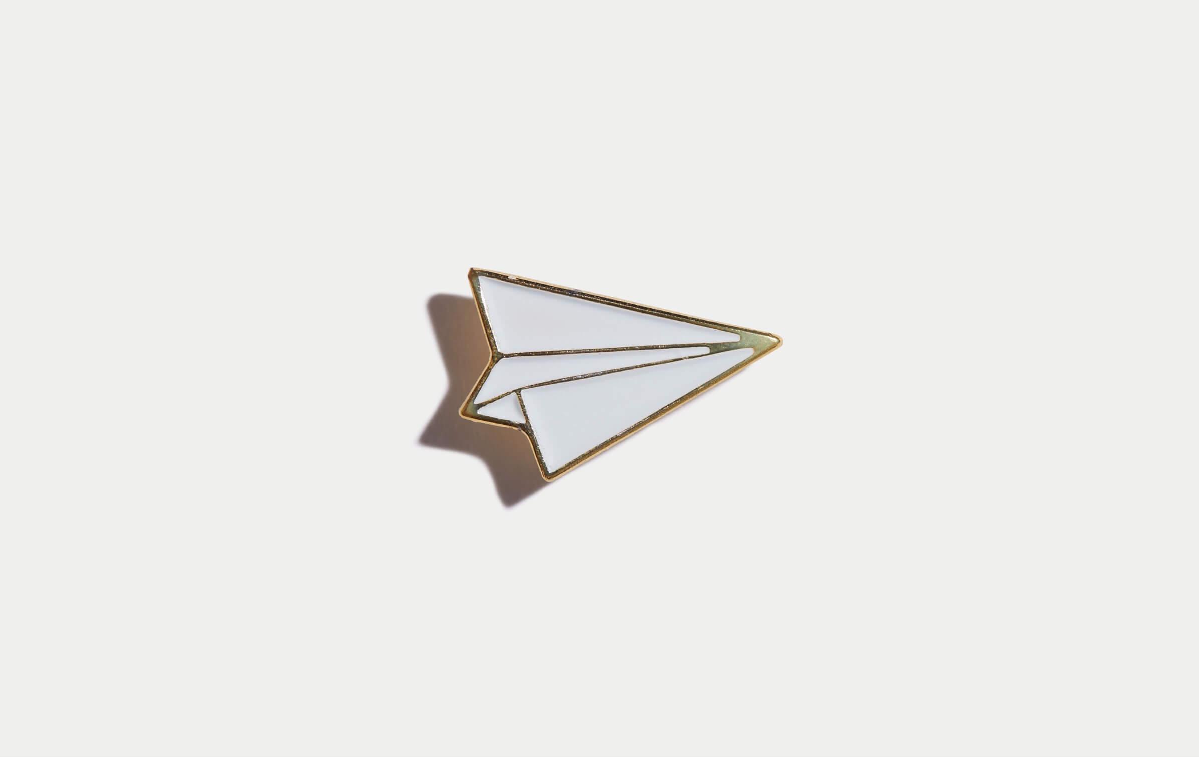 paper airplane pin marine layer