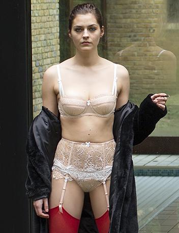 Honeysuckle Hug | Luxury Designer Nude Lace Lingerie Set