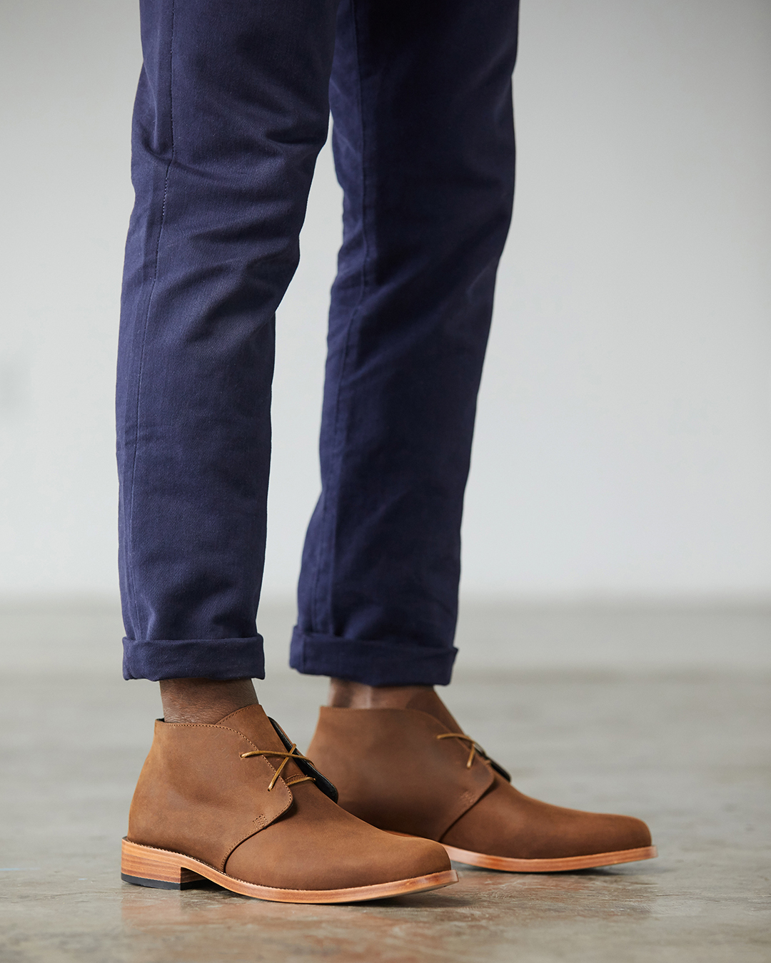 Nisolo Men's Luca Chukka Boot in oak | Handcrafted & Ethically Made