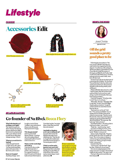 The Scotsman Magazine, Lifestyle, My Life in Clothes