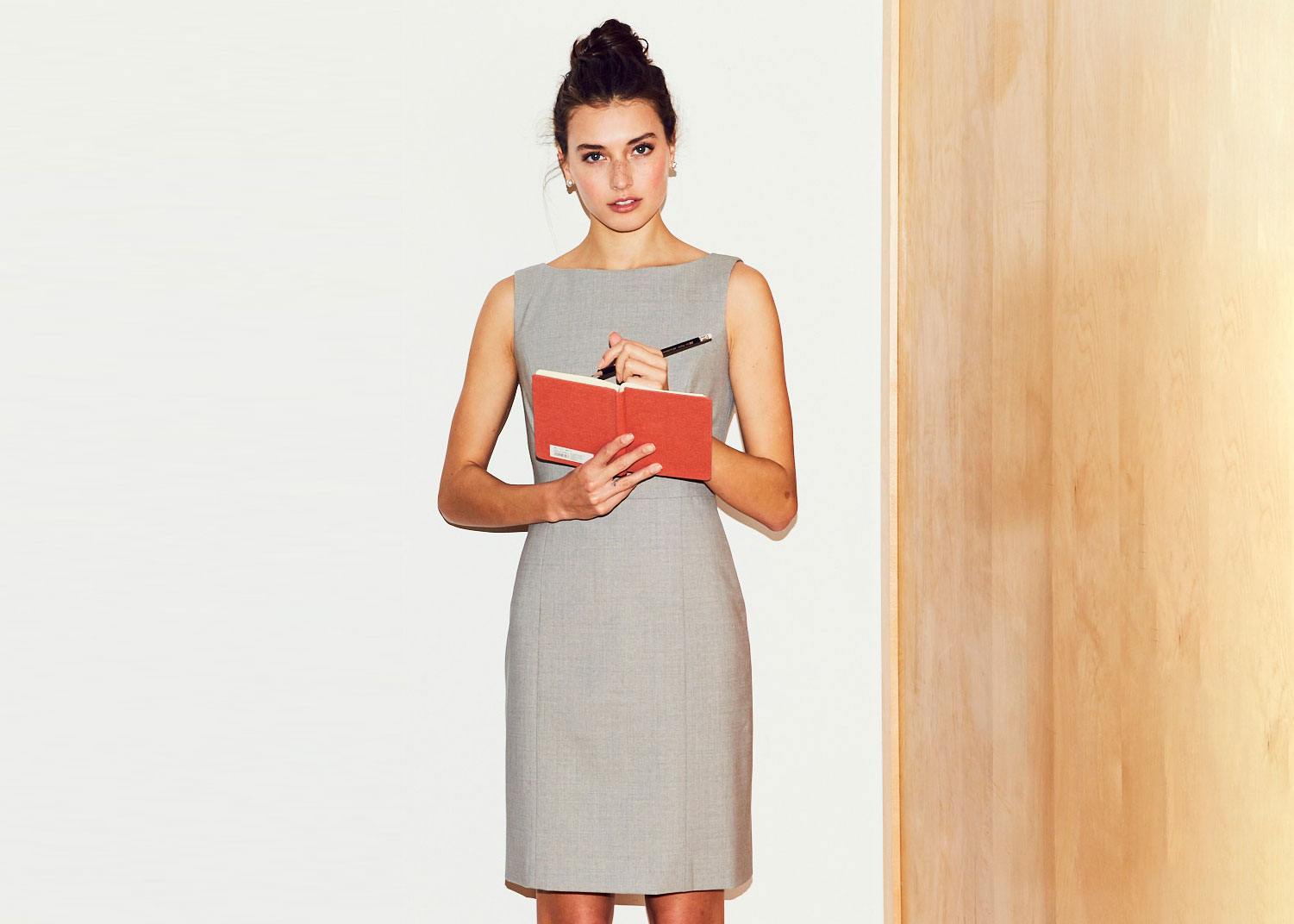 Of Mercer Grey Wool Sheath Dress | Fifth Avenue