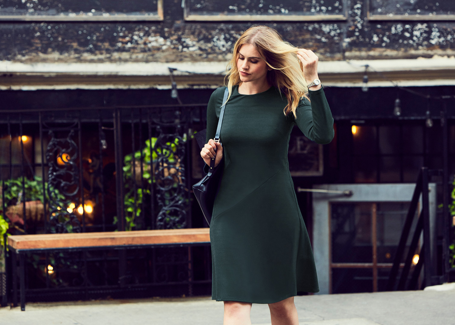 Of Mercer | Green Baxter Dress | Street Style