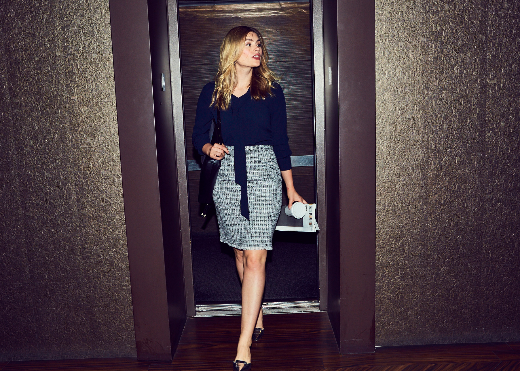 Of Mercer | Lafayette Tweed Skirt | Tweed Skirt