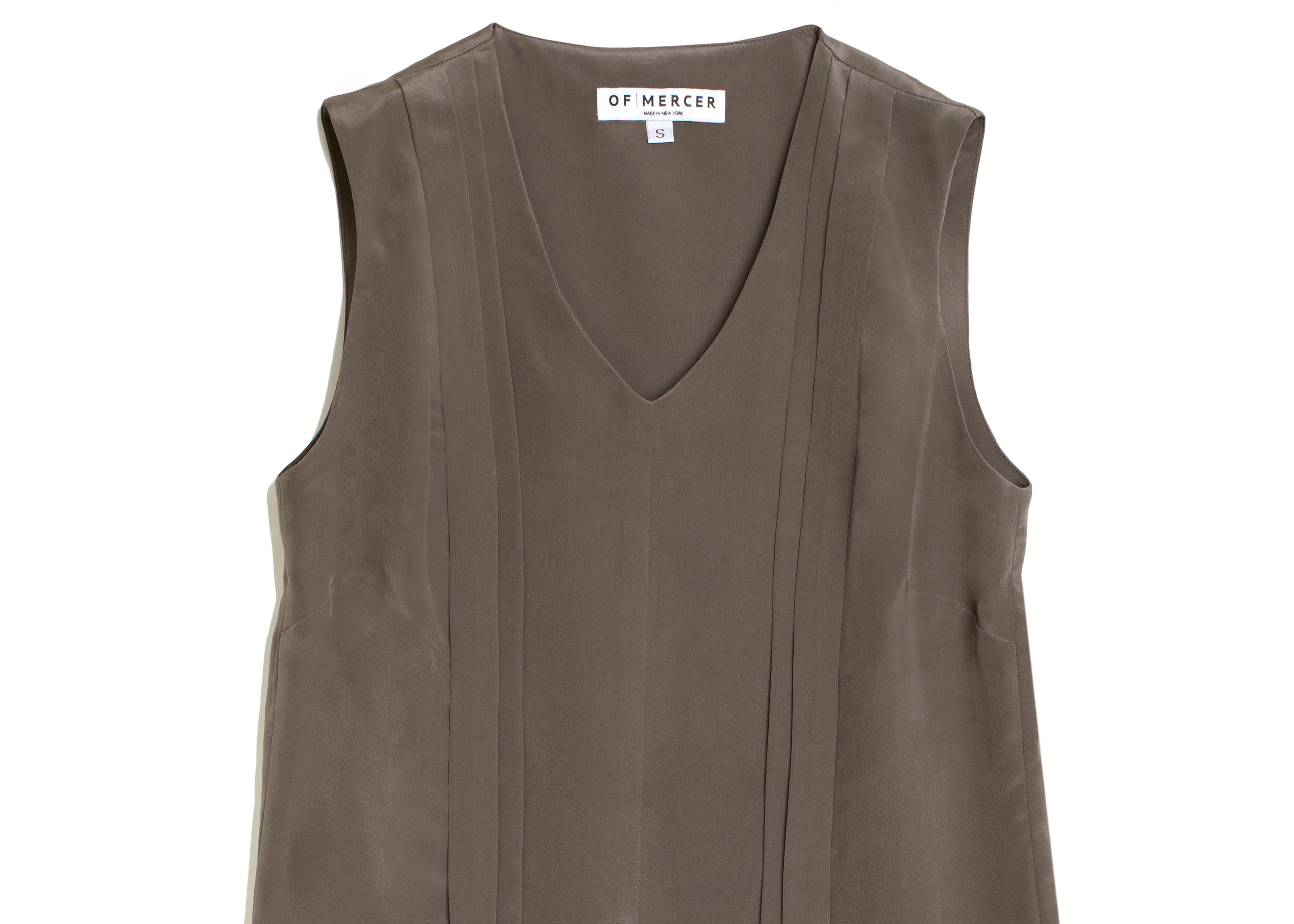 Of Mercer | Taupe Warren Top | Detail Shot