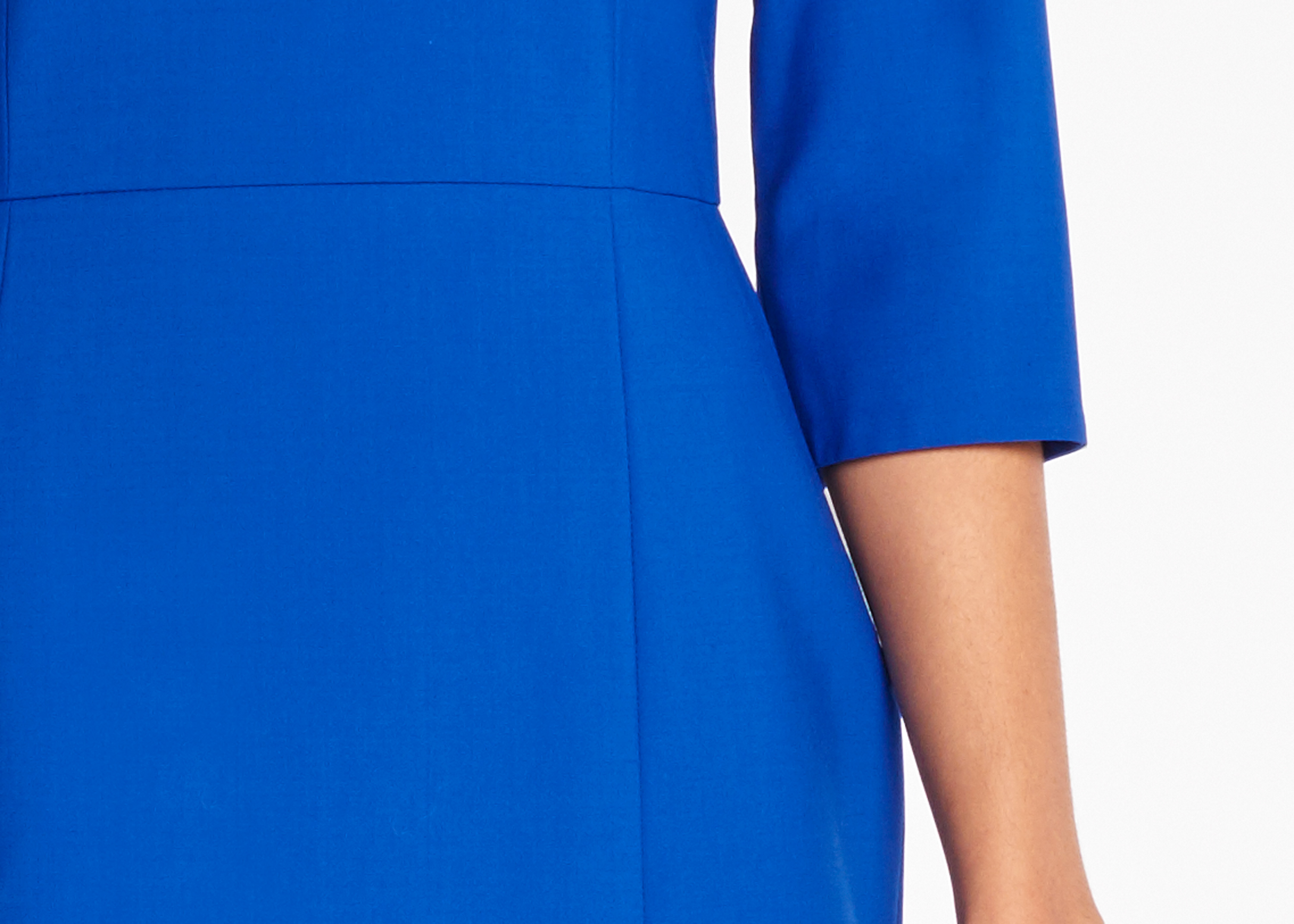 Of Mercer | Cobalt Madison Dress | Detail Shot