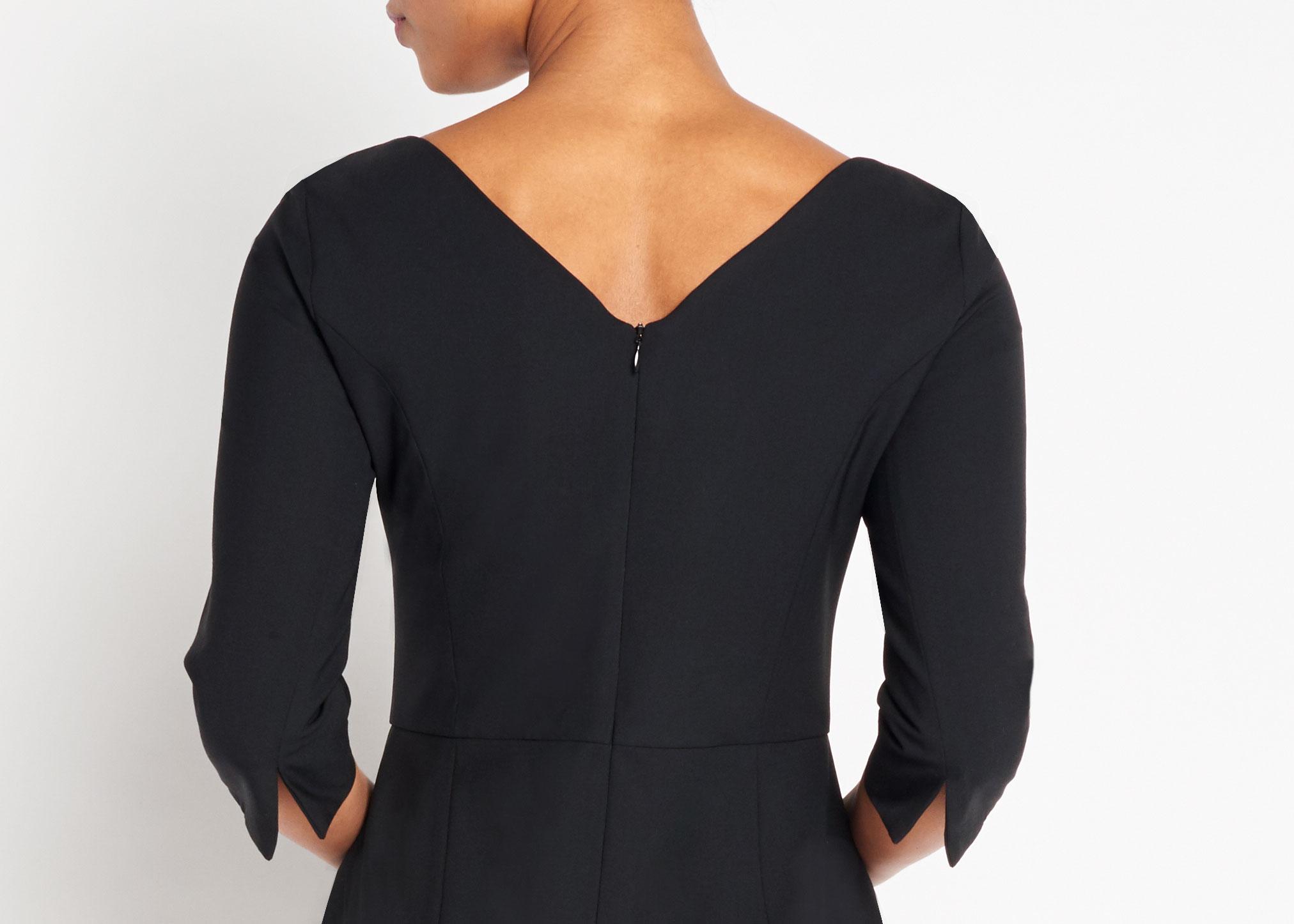 Of Mercer | Black Madison Dress | Detail