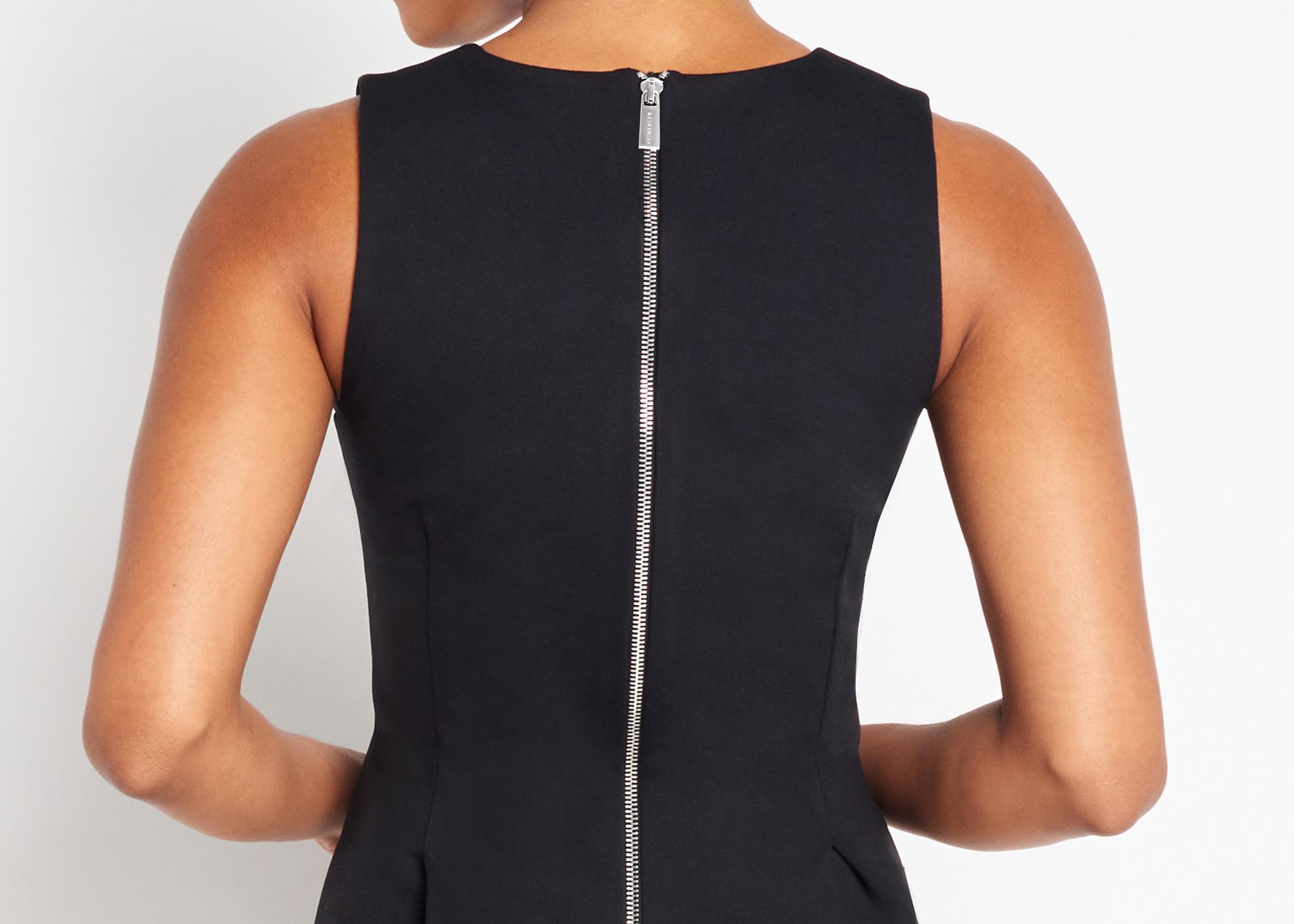Of Mercer | Black Kenmare Dress | Detail Shot
