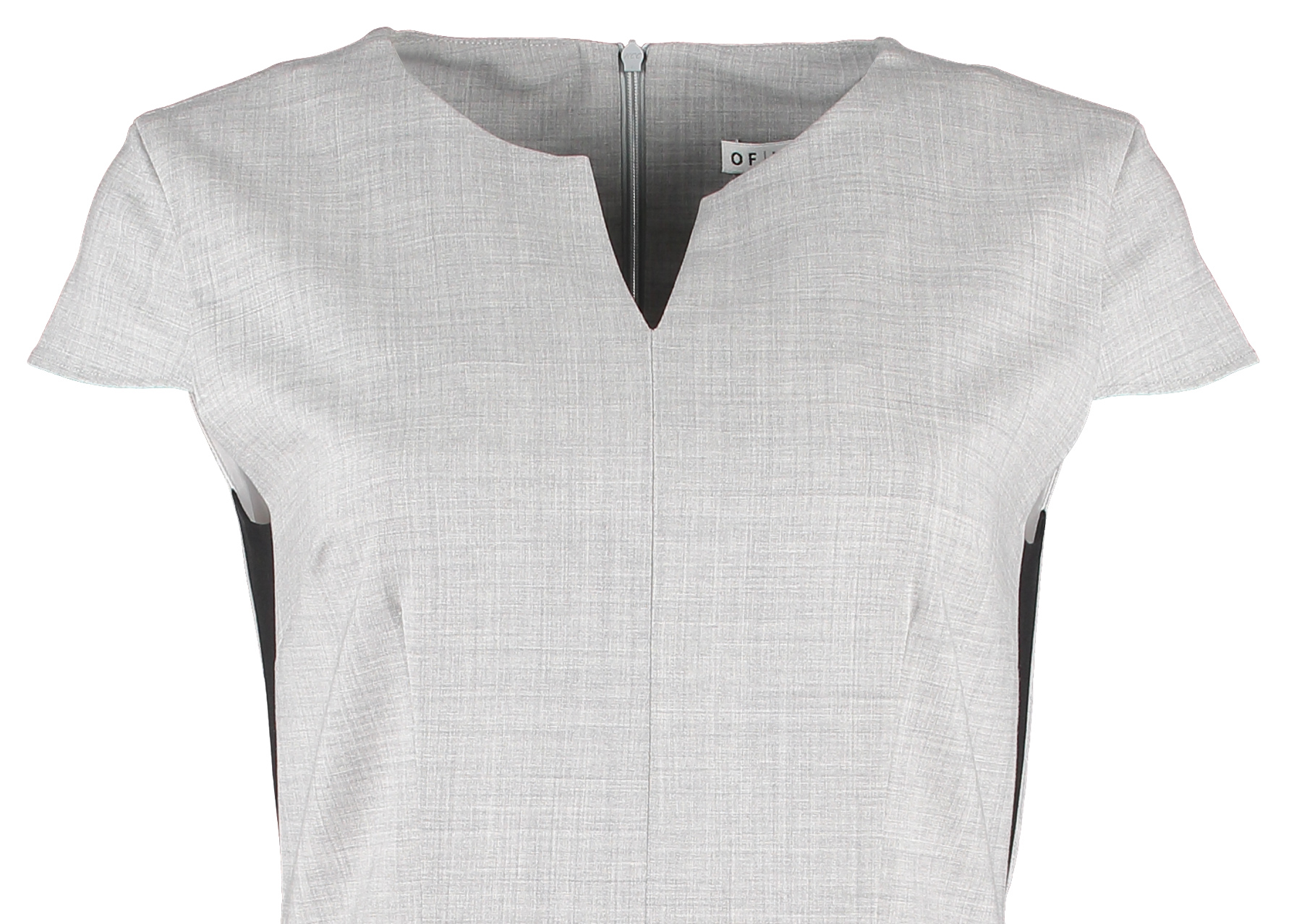 Of Mercer | Grey Hudson Dress | Detail Shot