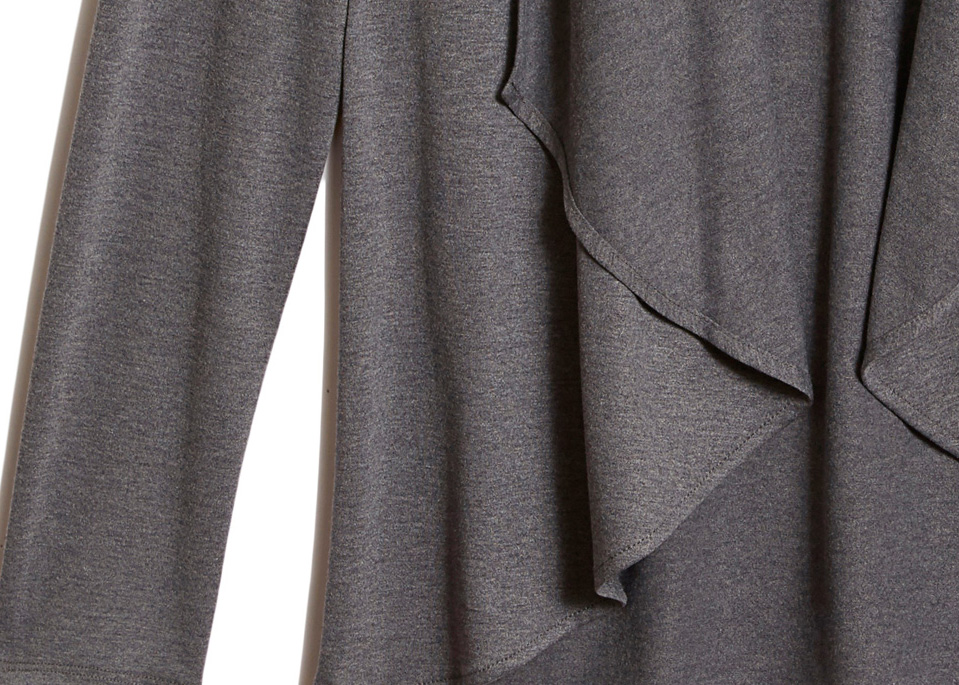 Of Mercer | Grey Amsterdam Cardigan | Detail Shot