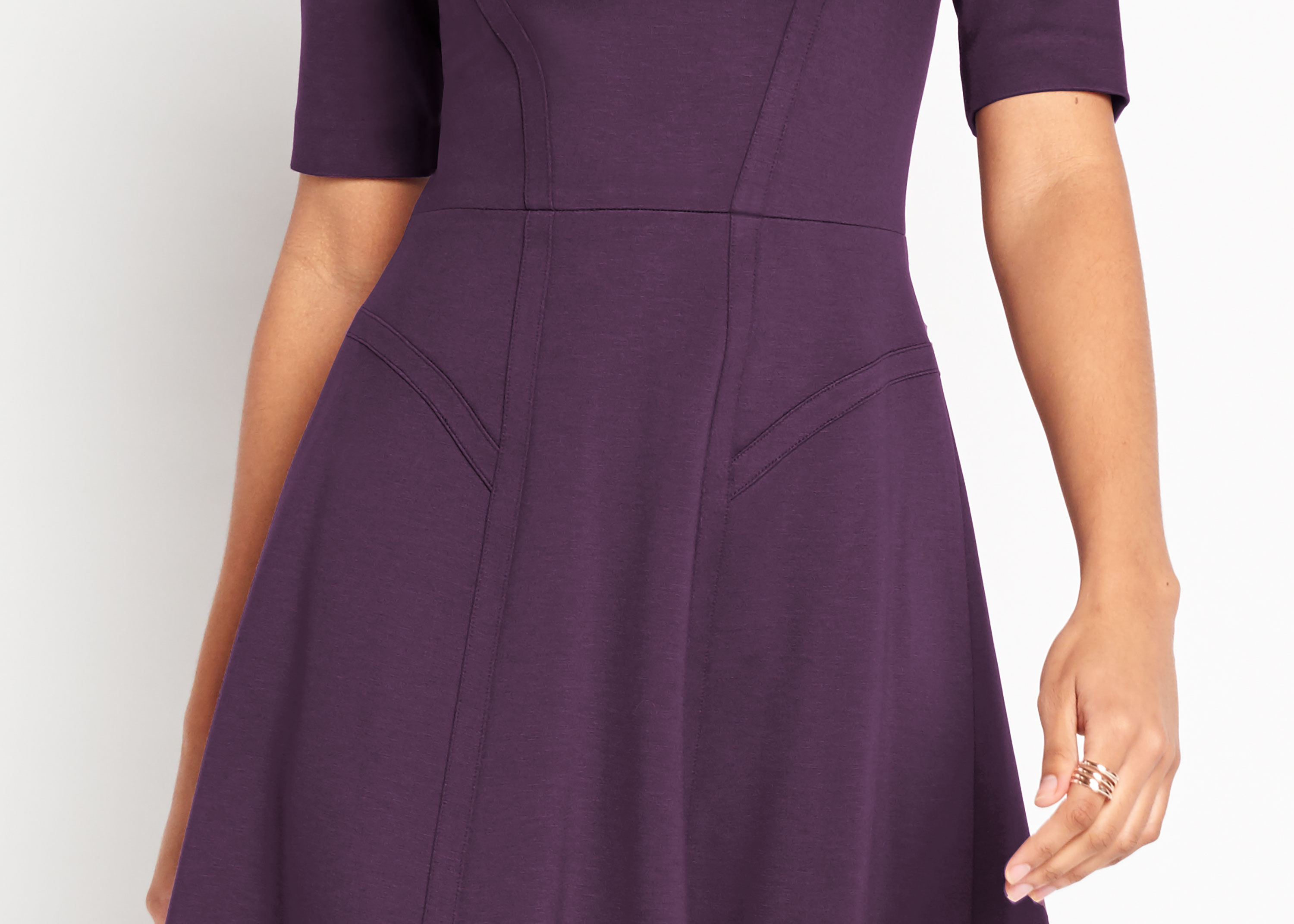 Of Mercer | Purple Sullivan Dress | Detail Shot
