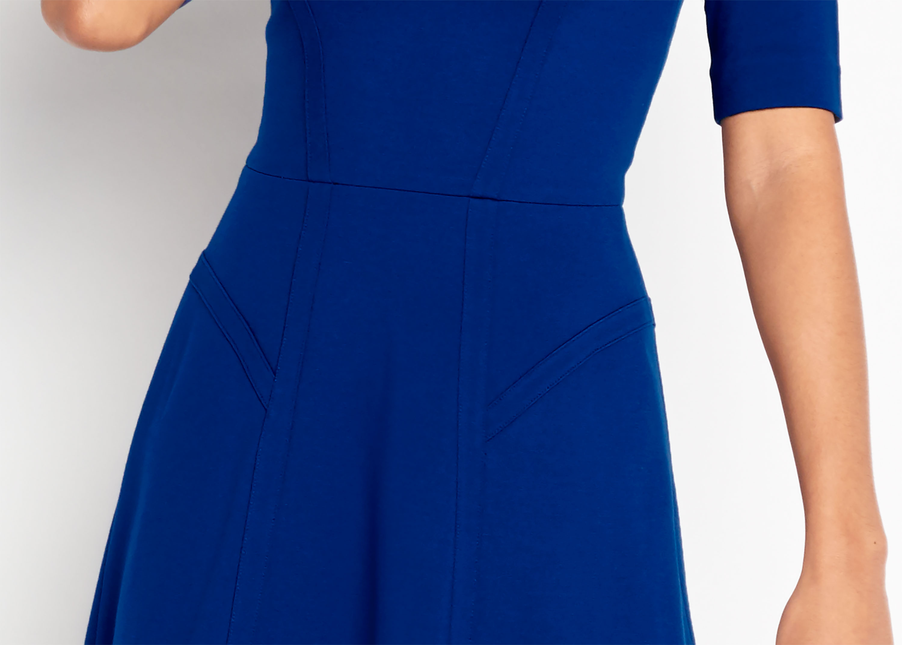Of Mercer | Blue Sullivan Dress | Detail Shot
