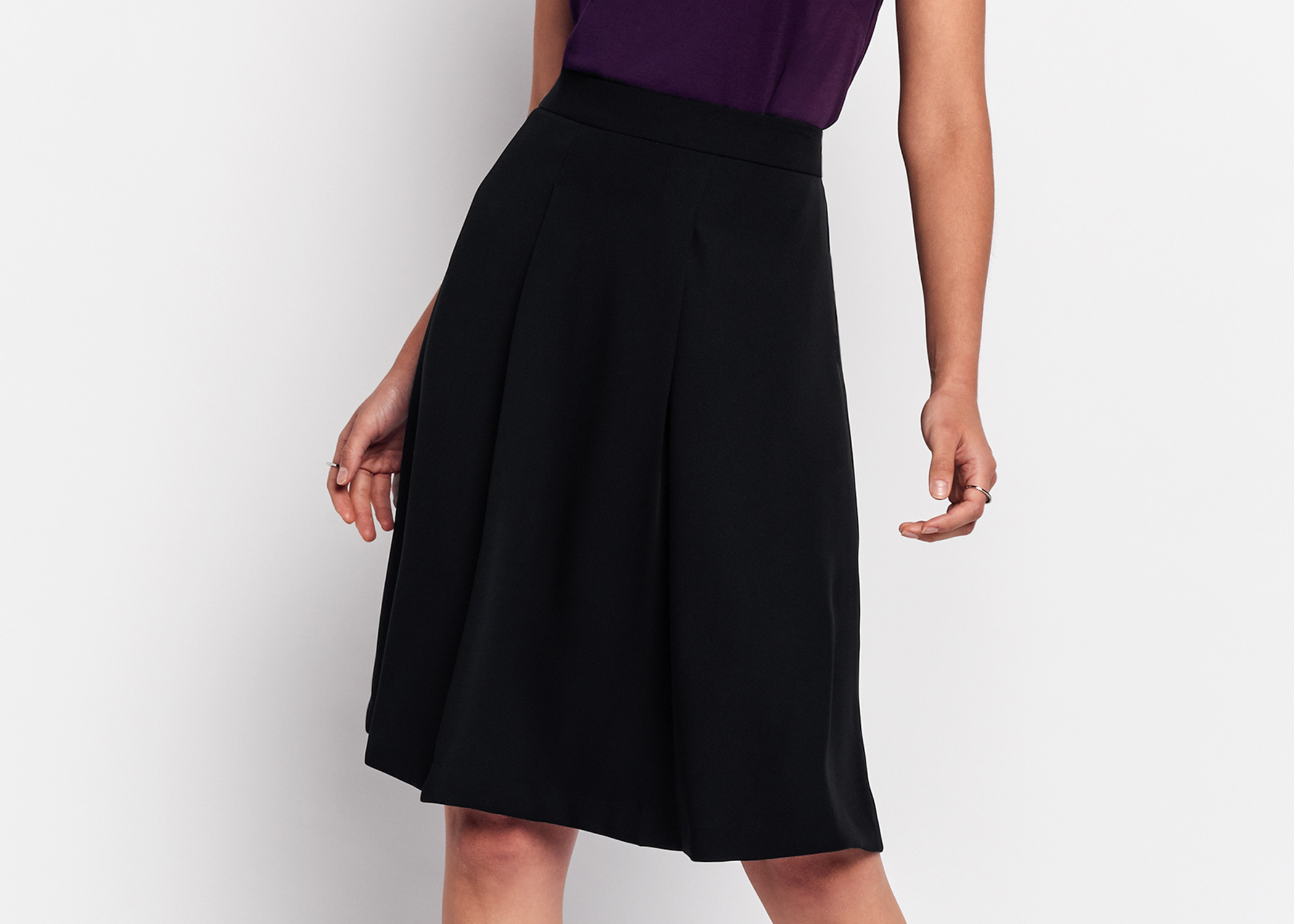 Of Mercer Black Delancey Skirt Detail