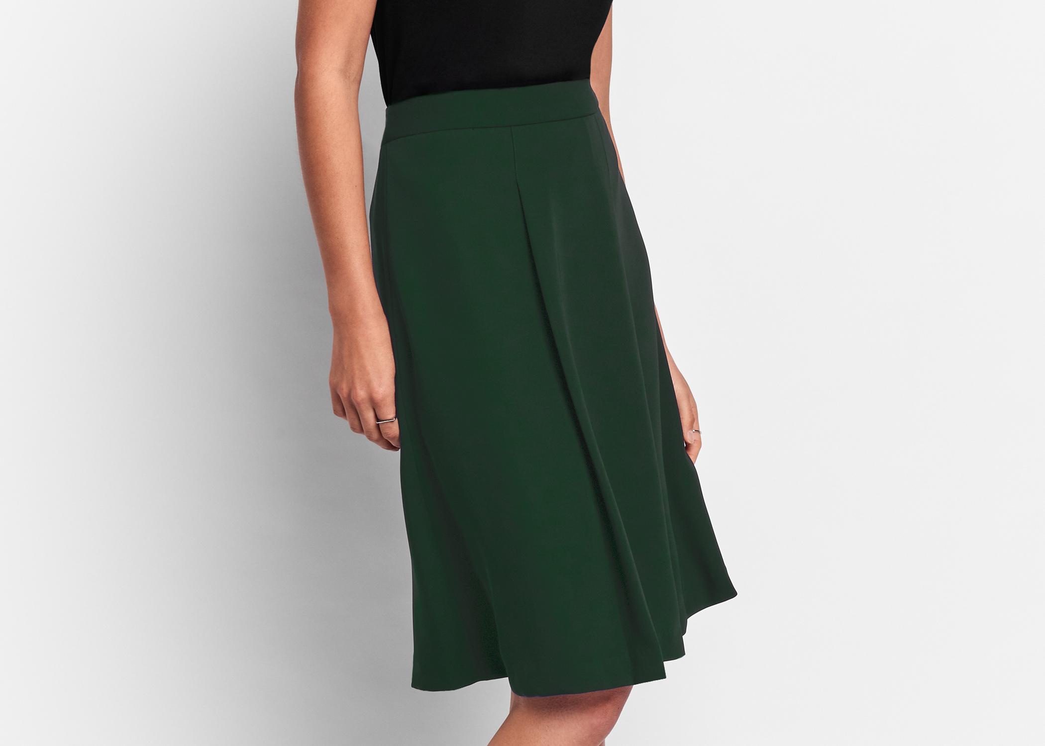 Of Mercer Forest Green Delancey Skirt Detail