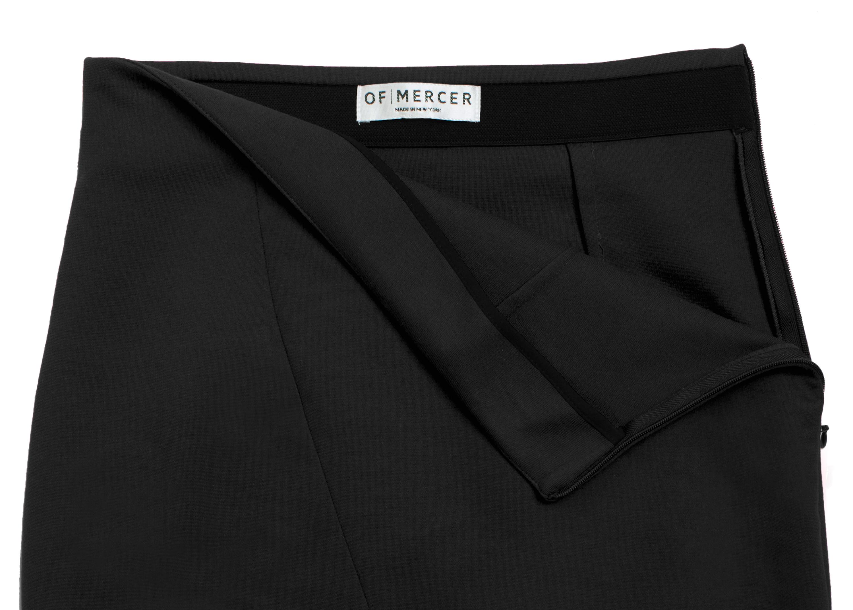 Of Mercer Black Beatrice Skirt Detail Shot