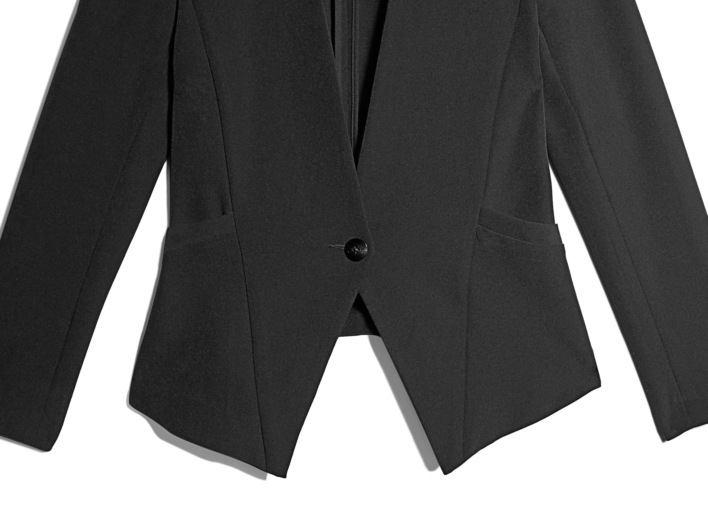 Of Mercer   Black Lenox Blazer   Detail Shot