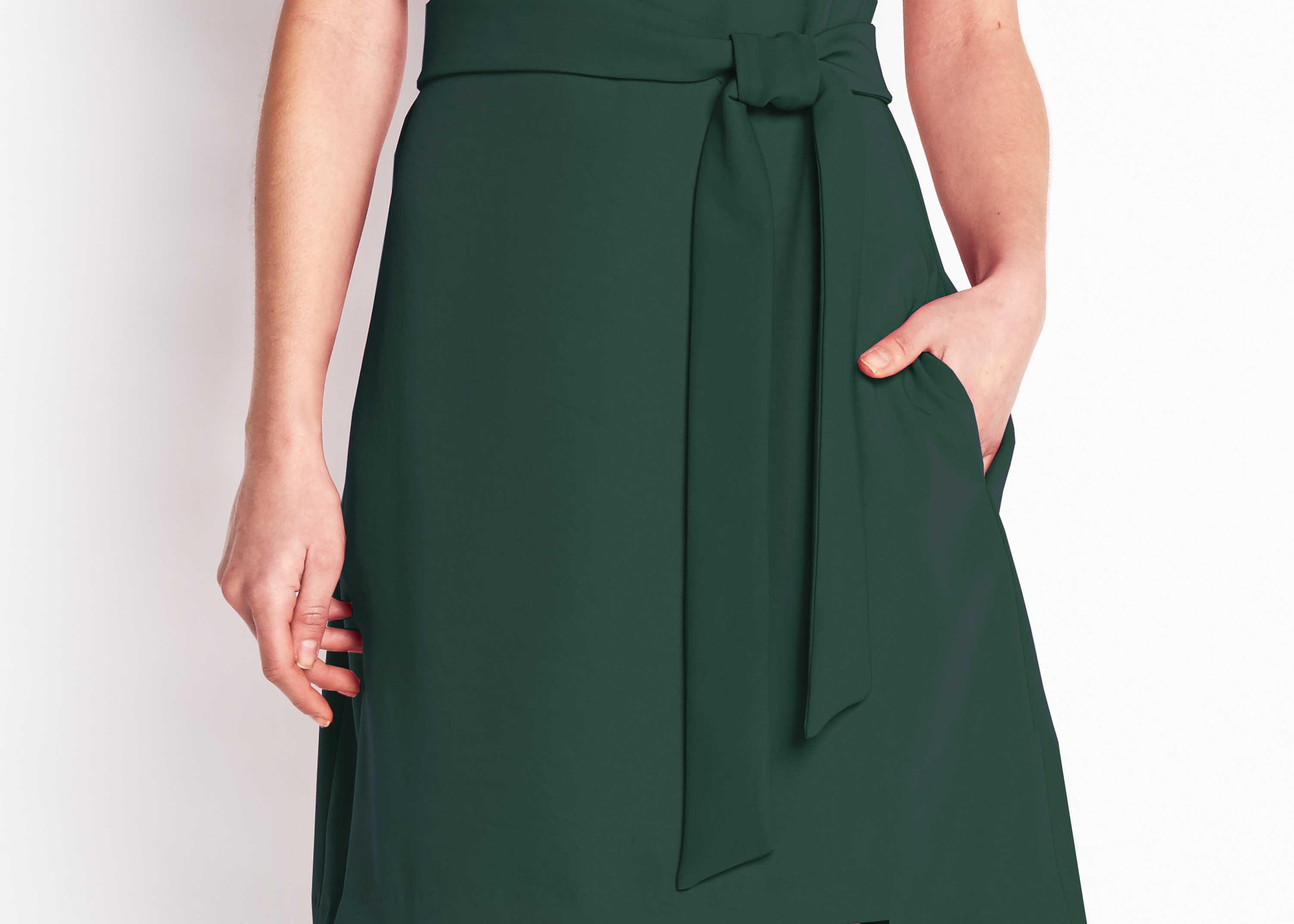 Of Mercer | Green Riverside Dress | Detail Shot