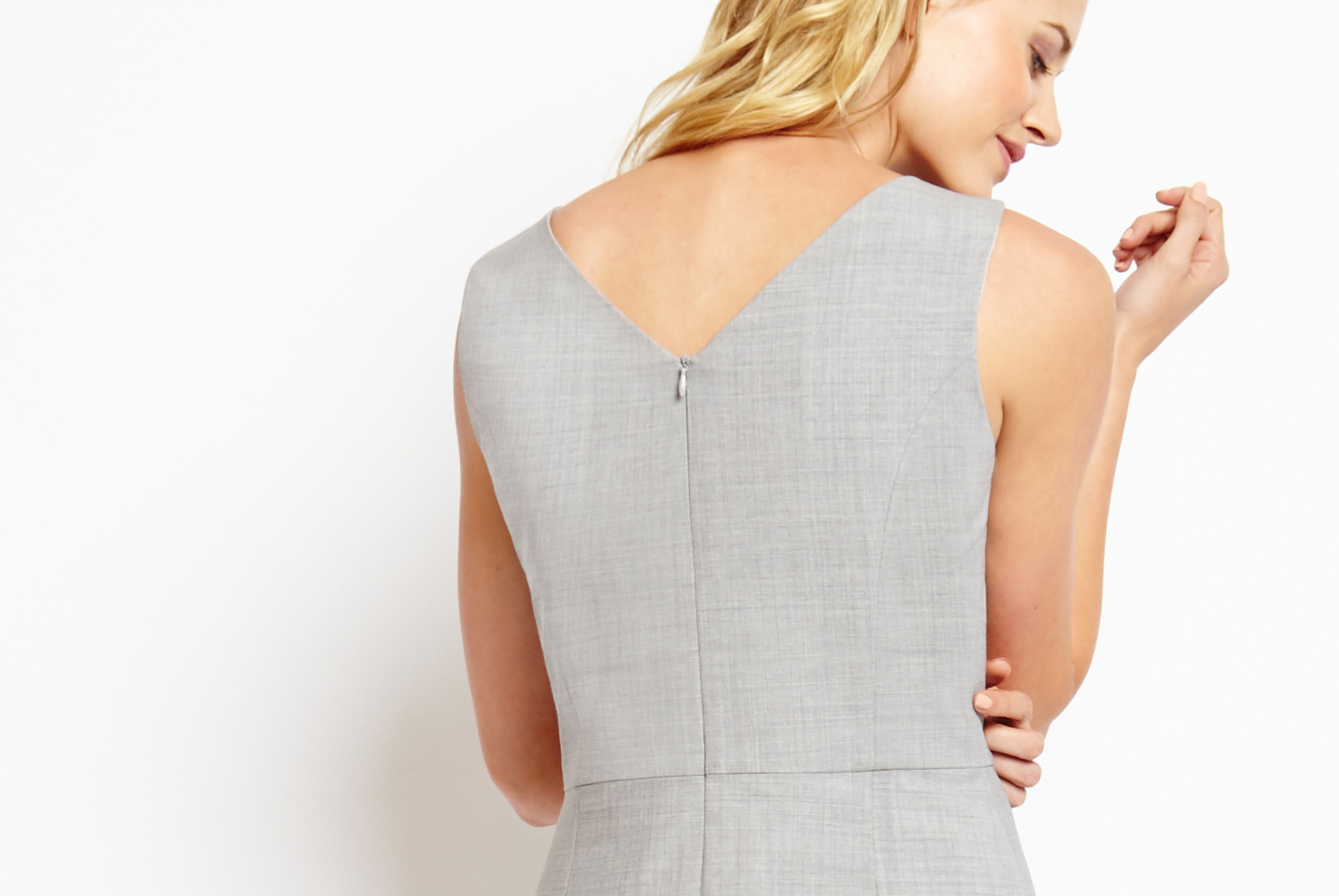 Of Mercer | Grey Fifth Avenue Dress | Detail Shot