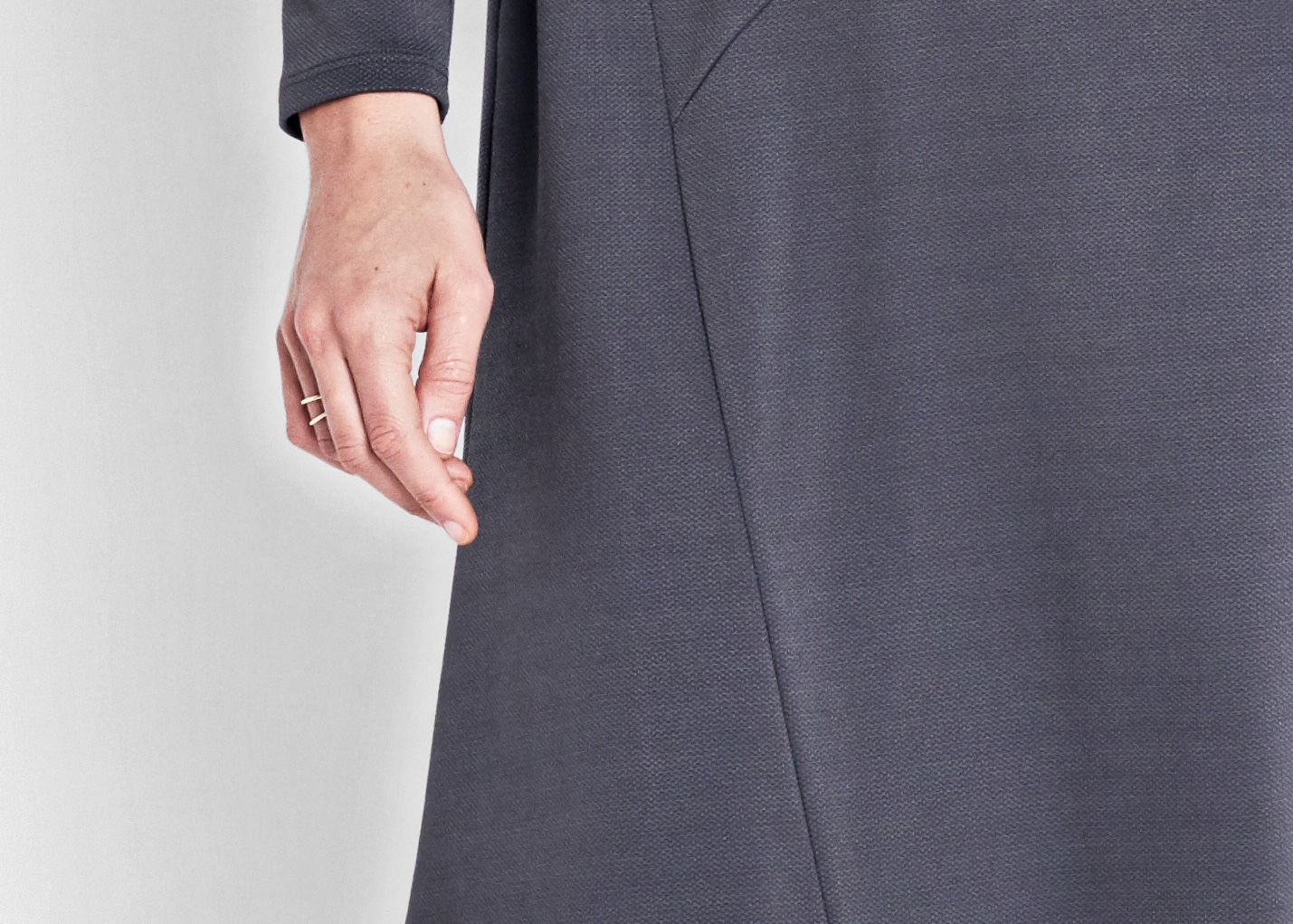 Of Mercer | Grey Baxter Dress | Detail Shot