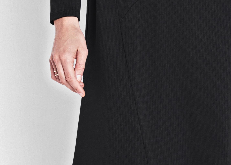 Of Mercer | Black Baxter Dress | Detail Shot